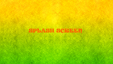 Splash Screen Yazı Görseli